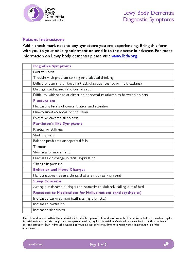 lewy body dementia diagnosis